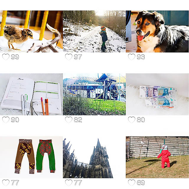 der März in Bildern bei Instagram