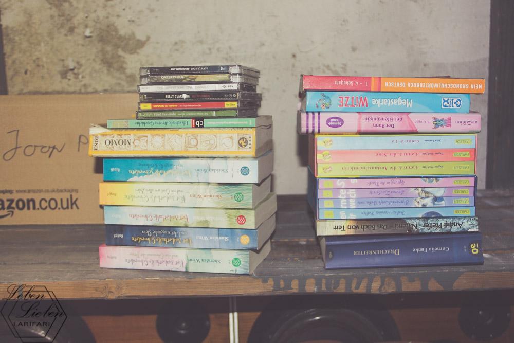 Bücher - alle nass und für die Tonne