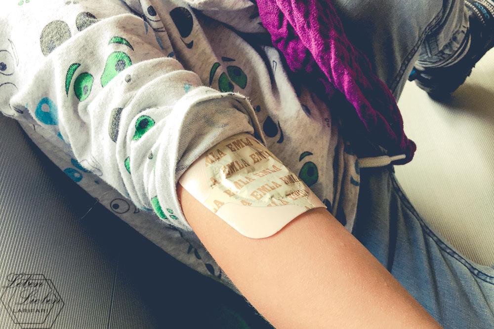 Vorbereitung für die Blutabnahme