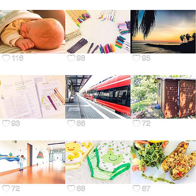 Instagram Bilder im Juli