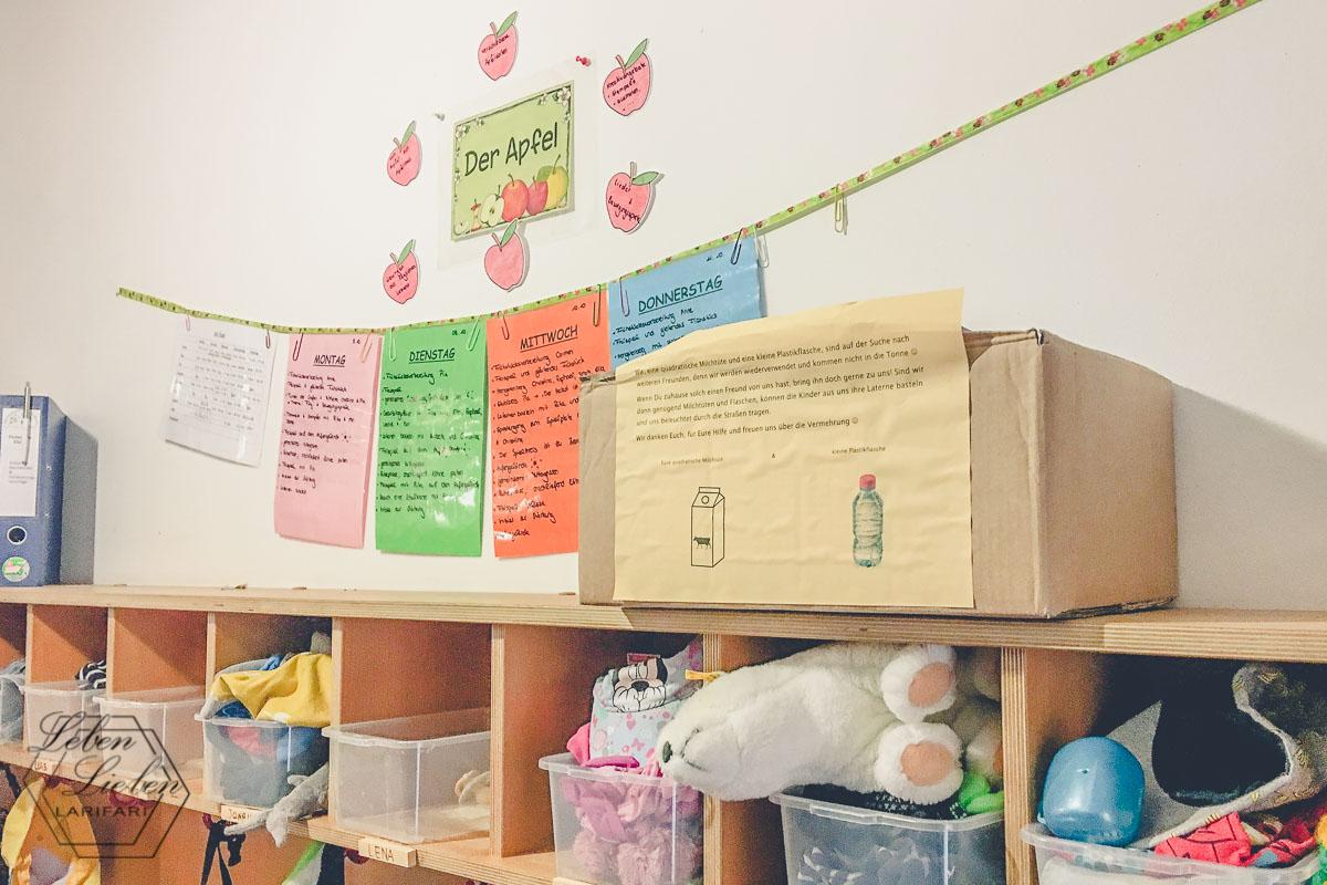 Die Info-Wand im Kindergarten