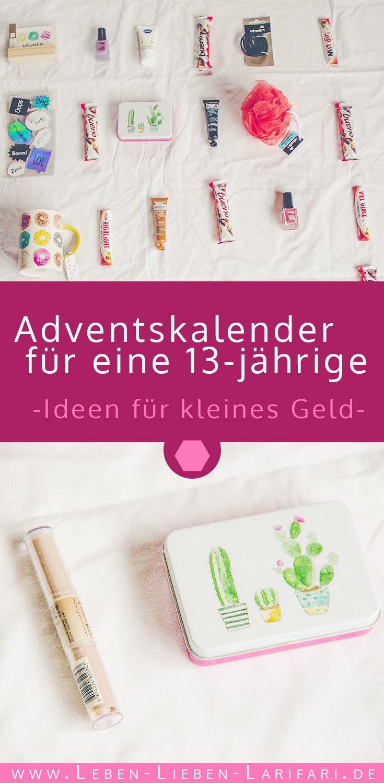 Adventskalender für eine 13-jährige – viele Ideen für kleines Geld