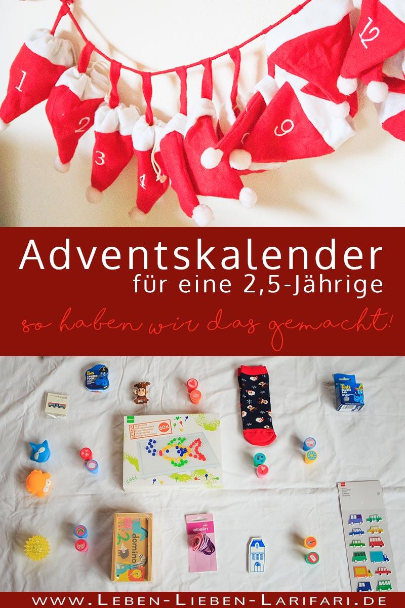 Adventskalender für eine 2,5-jährige