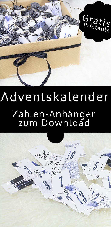 Adventskalender in Jutesäckchen - der Kosmetik-Adventskalender für meine Teenager-Tochter - mit kostenlosem Download der Zahlen-Anhänger