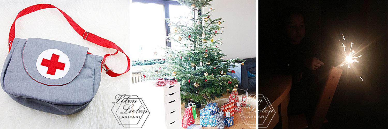 Highlights im Dezember: selbst genähte Arzttasche - Weihnachten - Silvester mit Wunderkerzen