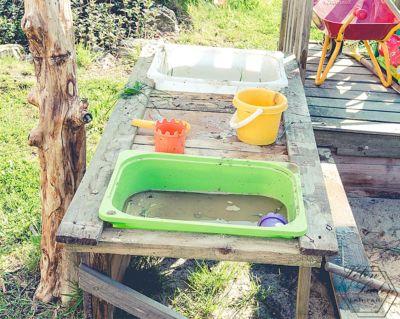 Kinderküche für den Garten