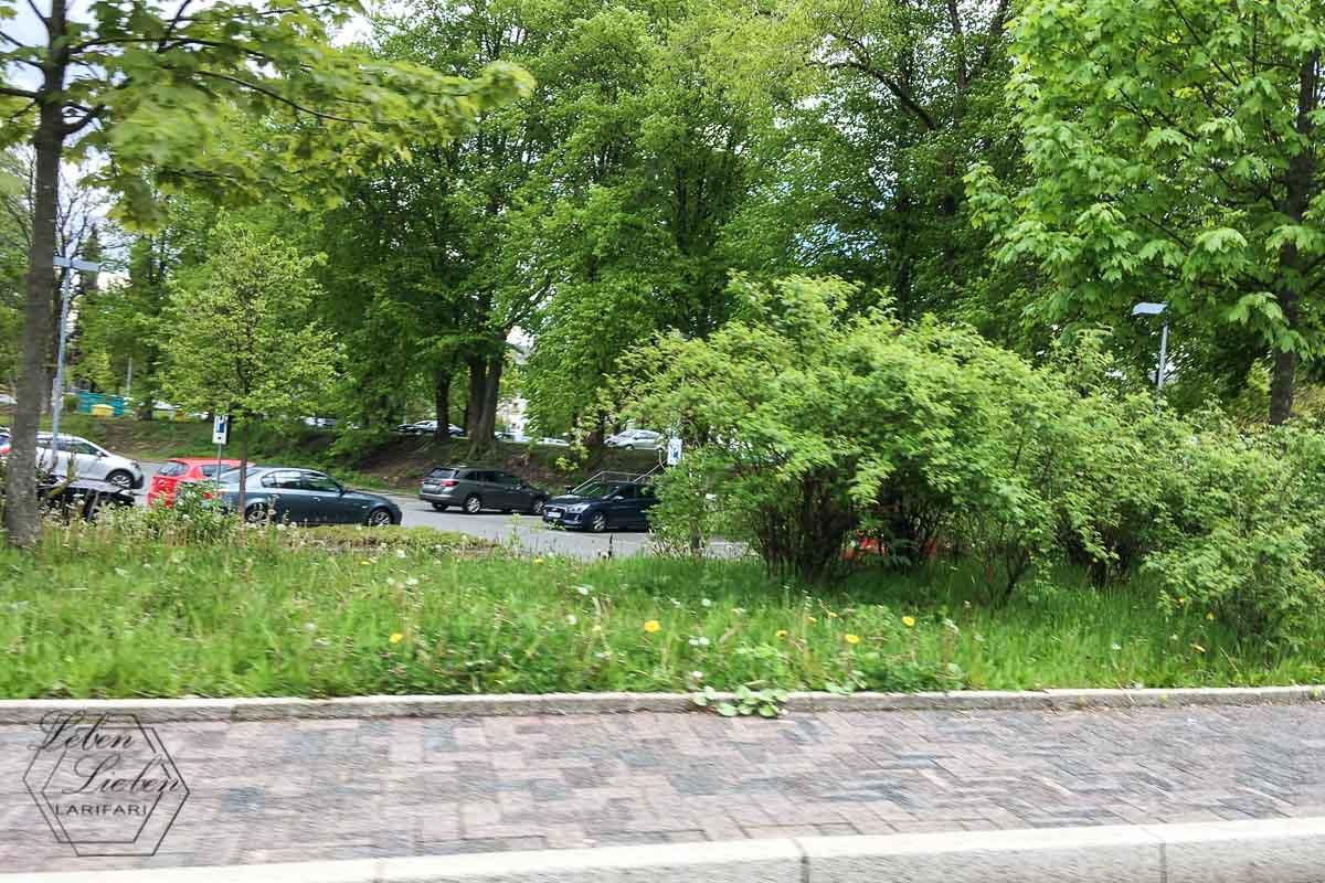 Parkplatz im Grünen