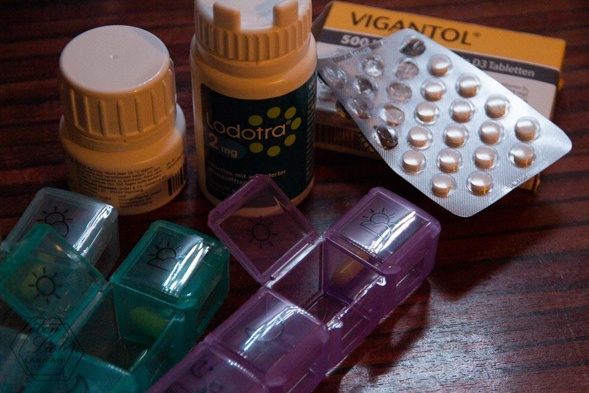 Medikamente in Boxen: Vorbereitung für die nächste Woche