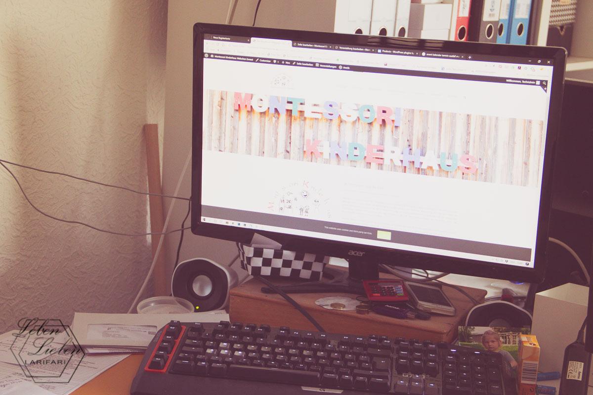 PC-Arbeit - die Webseite vor dem finalen Startschuss