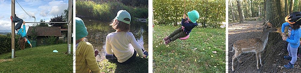 September: Kletterstangenakrobatik, Ausflüge und Gartenzeit