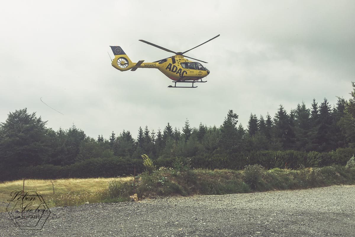Nach dem Unfall: Mit dem Helikopter ins Krankenhaus