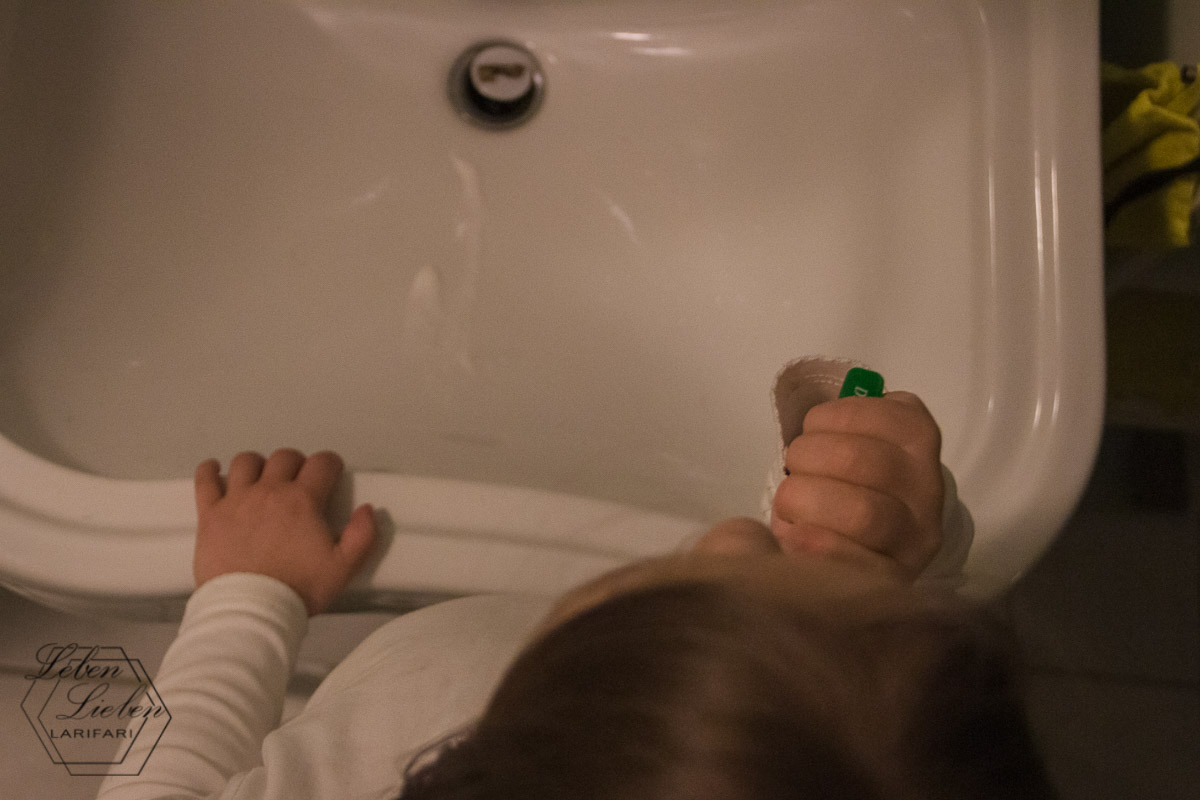 Zähne putzen - ab ins Bett
