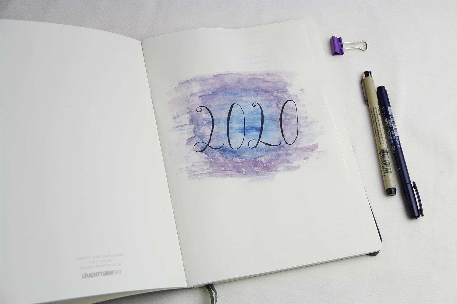 Bullet Journal 2020 - die Cover Seite