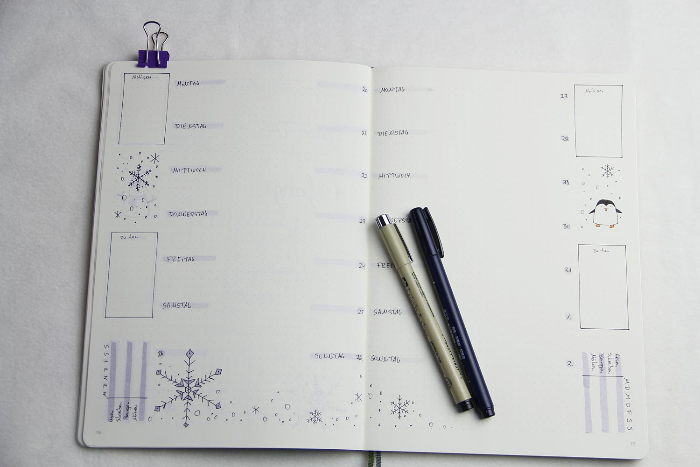 Bullet Journal 2020 - Januar Wochenübersicht 2