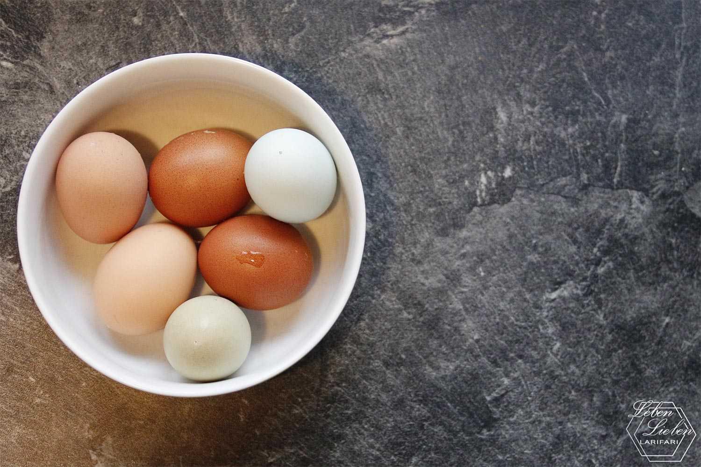 Sonntagsfrühstück mit Eiern aus eigener Hühnerhaltung