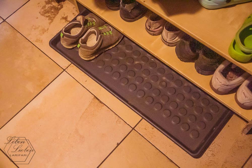 Schuhregal - die Kinder sind aus dem Haus