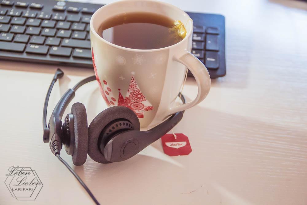 Auf die Arbeit vorbereiten - mit Tee