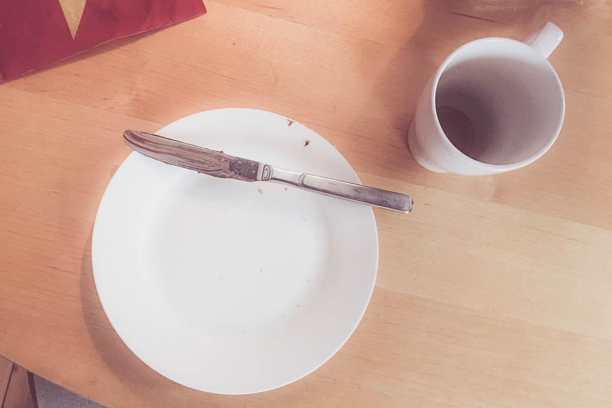 Frühstück fertig, ab zum Kratzen