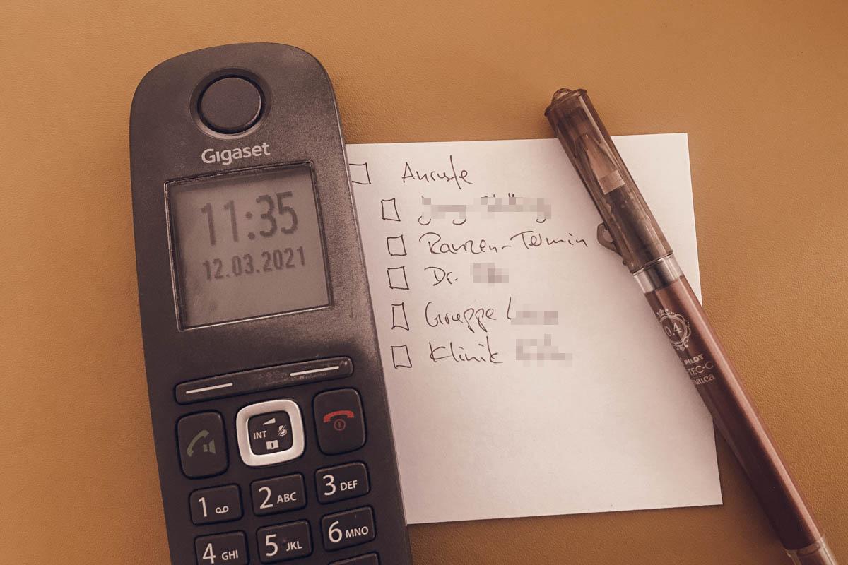 To Do: meine Anrufliste